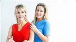 Best friends: Drs Katherine and Jane Mulrooney have 10 skin and haircare products. Photo: David Conachy