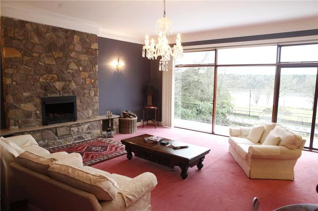 Rathmeel's drawing room has panoramic views over the River Moy
