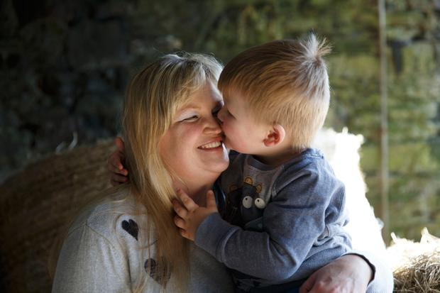Genna McAuliffe with her son Harry (2) at their home in Ballinspittle, Co Cork. Photo: Fran Veale