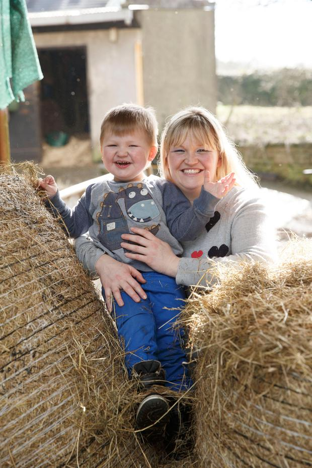 Maternal bond: Genna with her son Harry in Cork. Photo: Fran Veale