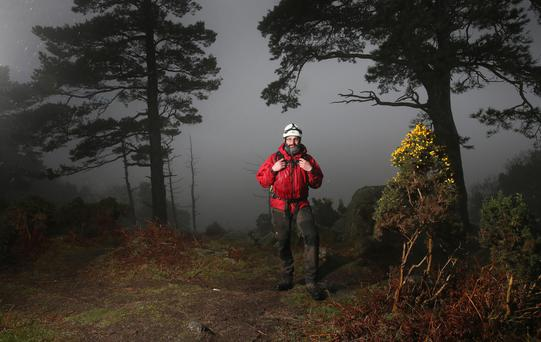 Mountain and cave rescue specialist John Kavanagh, who is a member of the Dublin and Wicklow Mountain Rescue Team, near the Scalp in Dublin Mountains. Photo: Frank Mc Grath