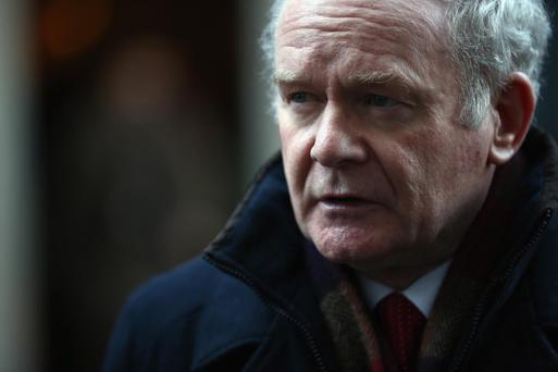 Martin McGuinness outside 10 Downing Street in 2014