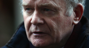 Martin McGuinness outside 10 Downing Street in 2014 Photo: Getty