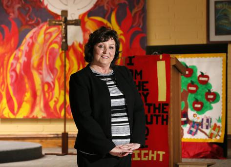 Parishioner Rita Fernandez at St Oliver Plunkett Church in Finglas South. Photo: Frank Mc Grath