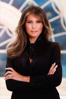 Perfectly coiffed: Melania Trump has updated her profile picture to that of her official portrait
