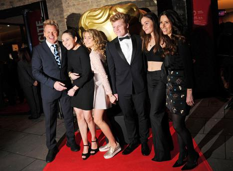 No big handouts: Gordon Ramsay and his wife Tana with their children Megan, Matilda, Jack, and Holly