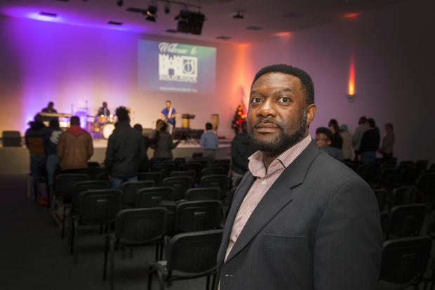 Pastor, Emmanuel Might of The Solid Rock Multicultural Pentecostal Church,  Inchicore pictured during a