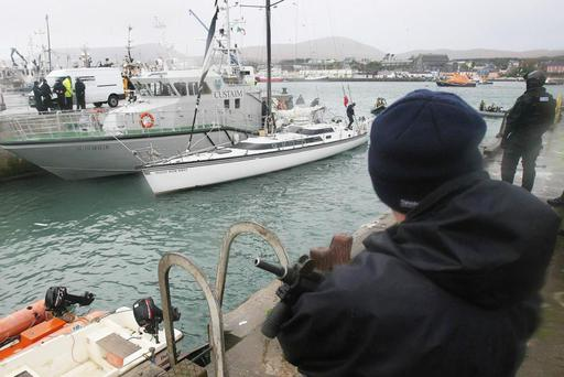 Busted: €400m worth of cocaine was seized from the 'Dances With Waves' yacht off Mizen Head in Cork in 2008.