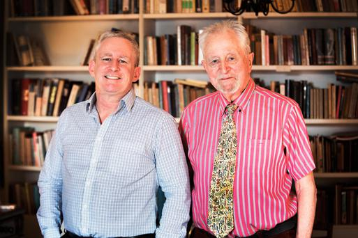 'We could sit there all day drinking whiskey and debating,' Cilian and Desmond Fennell. Photo: Colin O'Riordan