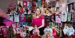 Not just child's play: Glenda Taylor with her collection of Barbie dolls