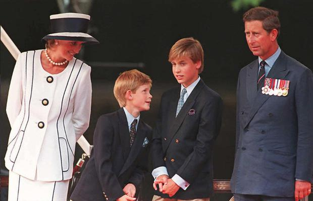 Diana, Harry, William and Prince Charles