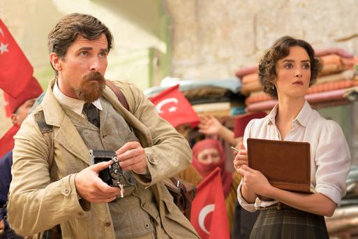 Christian Bale and Charlotte Le Bon in 'The Promise'