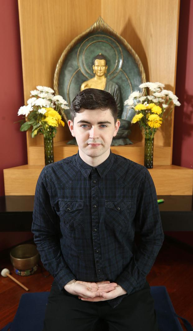 Daniel Canning at the Dublin Buddhist Centre. Photo: Damien Eagers