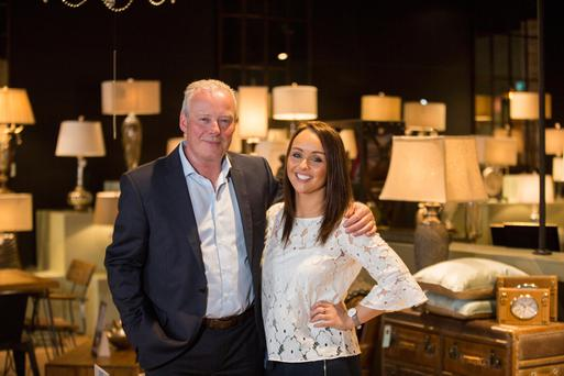 Tony and Lisa Collins in their Red Earth store in Sandyford. Photo: Mark Condren