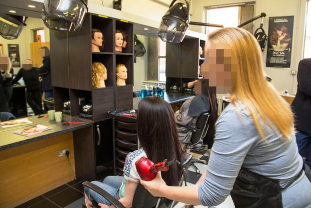 New skills: the salon at Mountjoy runs 10-week courses in hairdressing for up to seven women. Photo: Colin O'Riordan