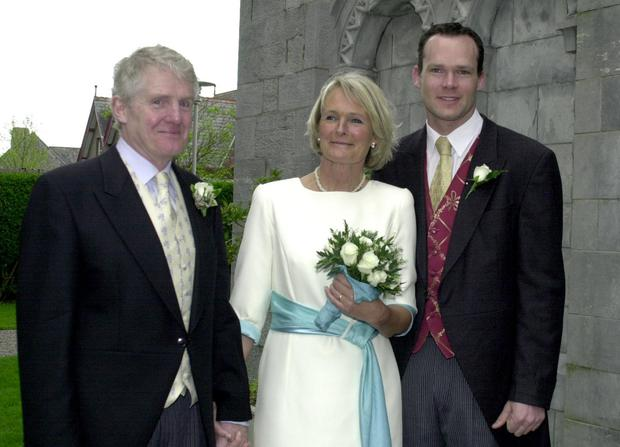 Simon Coveney on his mother Pauline's wedding day to Dr Paul McCarthy. Photo: Donna McBride/ProVision.