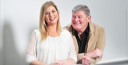 John Creedon and his daughter Nanci are the best of friends. Photo: Daragh Mc Sweeney