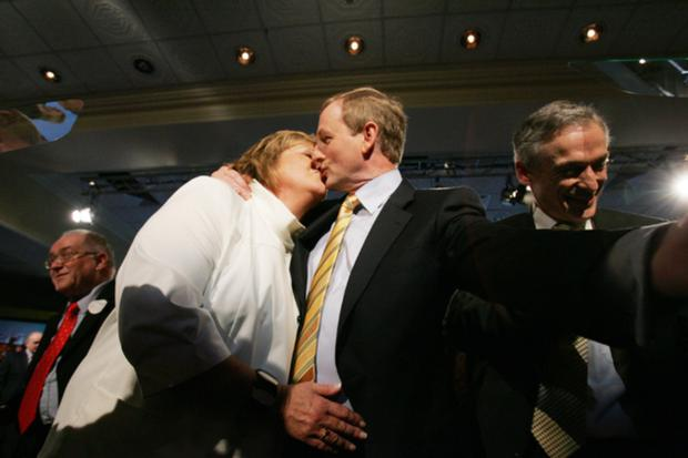 Enda and Fionnuala Kenny share a smooch
