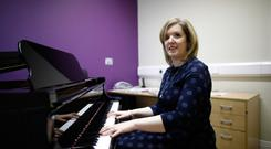 Determination: Claire Bowes who was injured in the Omagh bomb and now runs Omagh Music Academy. Photo: Peter Morrison
