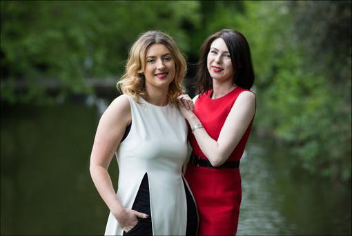 Sisters Sophie Cafolla and Vicky O'Dwyer have just launched The Stork Box. Photo: David Conachy