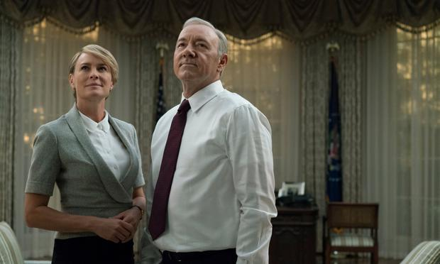 Robin Wright with Kevin Spacey in House of Cards