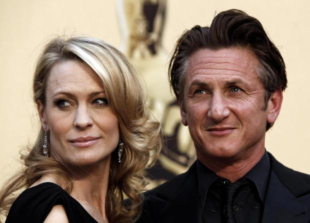 Robin Wright and Sean Penn in 2009