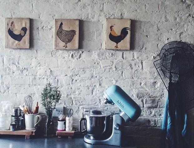 Each room bears the influences of the many places Clodagh has lived. Her summers in rural France and spell in Italy are evident in the pleasingly undone styling of her kitchen which is, of course, also her workspace