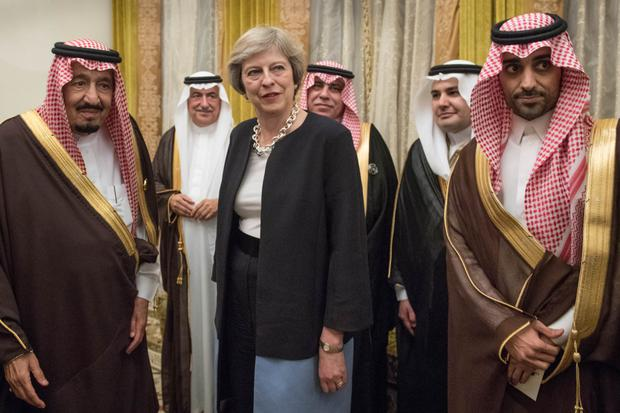 Theresa May with King Salman last December.