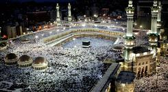Hajj trip: pilgrims at Mecca's Grand Mosque