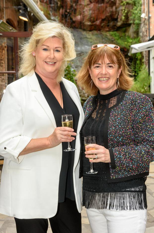 Pictured at The Summer Party at Cask bar Cork were Elaine Doody, Cork and Mary Bergin, Green Hospitality. Photo. John Allen