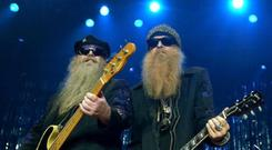 BOOGIETASTIC: ZZ Top guitarists Billy Gibbons, right, and Dusty Hill