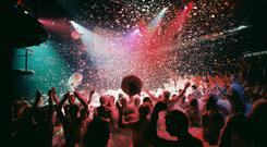 The famous Foam Party at the Amnesia club