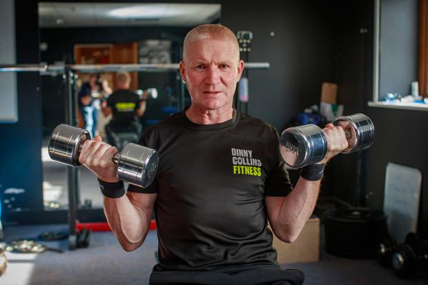 Fighting fit: Alan Long stays in shape with regular gym sessions. Photo: Arthur Carron