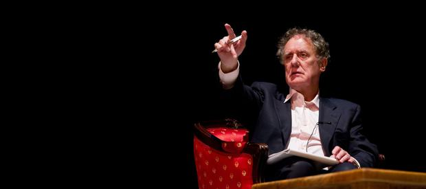 In the chair: Vincent Browne is quitting his TV3 show with a year left on his contract
