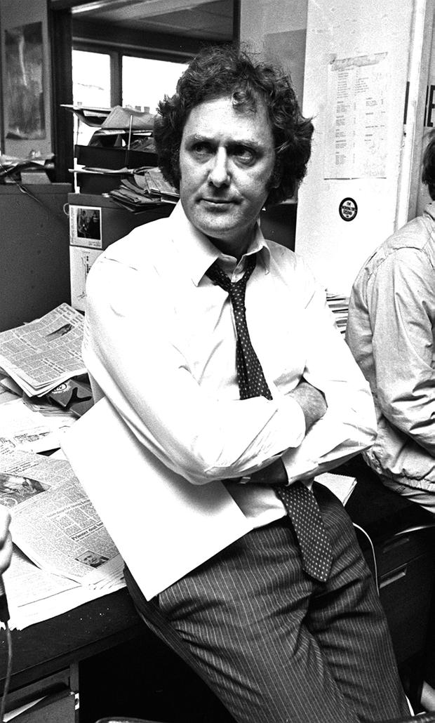 Vincent Browne during his newspaper days