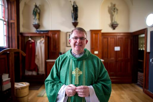 Fr Joe Mullen, parish priest at Church of the Three Patrons, Rathgar Rd. Photo: Douglas O'Connor
