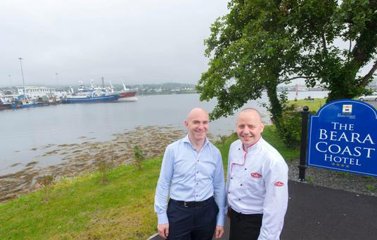 Mark Golden and Mark Johnston, directors of the Beara Coast Hotel, Castletownbere, Co. Cork. Photo: Michael Mac Sweeney/Provision