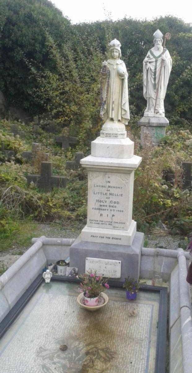 The grave of Little Nellie of Holy God at Sunday's Well in Co Cork