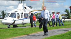 Grand entrance: Dermot Weld arriving for the Galway Races in 2007