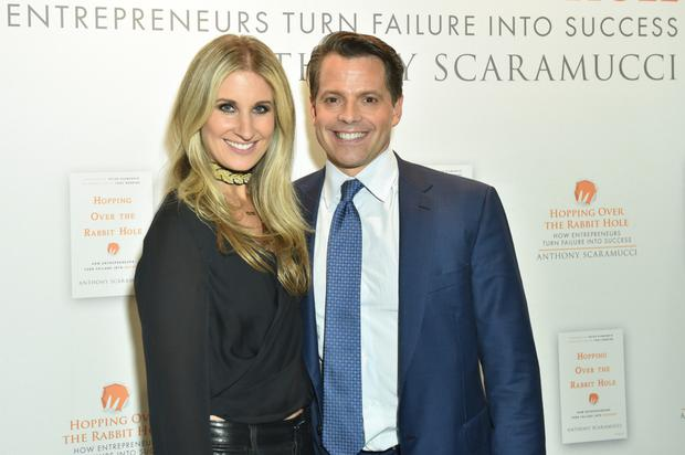 Anthony Scaramucci, who sent a text 'congratulating' his now-estranged wife, Deidre, after she gave birth