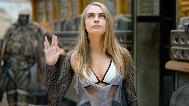 Vulcan salute: Cara Delevingne as Laureline in Valerian and the City of of a Thousand Planets