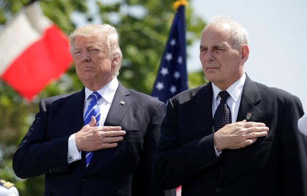 Change of heart: President Donald Trump and his new gatekeeper John Kelly