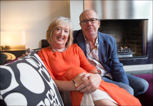 Married, divorced, married: Billie and Anthony Traynor met aged 18 and 21, and never get bored of each other's company. Photo: David Conachy