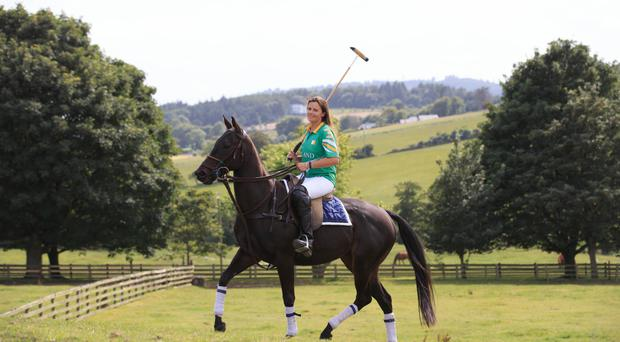 Siobhan Herbst, captain of the 2017 Irish Ladies Polo Team, photographed at Polo Wicklow. Photograph: ©Fran Veale.