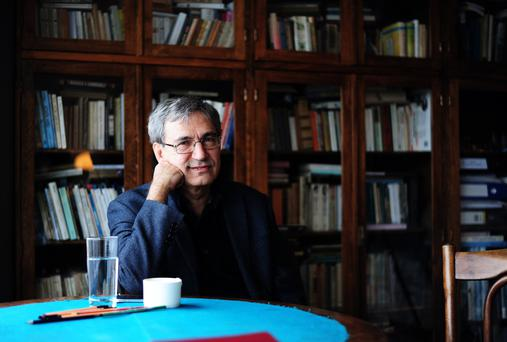 Public vilification: Orhan Pamuk has spoken out about Turkey's genocidal past, leading him to take political exile for a while