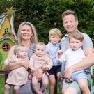 Family fortunes: Janette McGuinness Davis with her husband John Paul and their kids Elijah (3), Isaac (20 months) and twins Sienna and India (7 months). Photo: Fergal Phillips