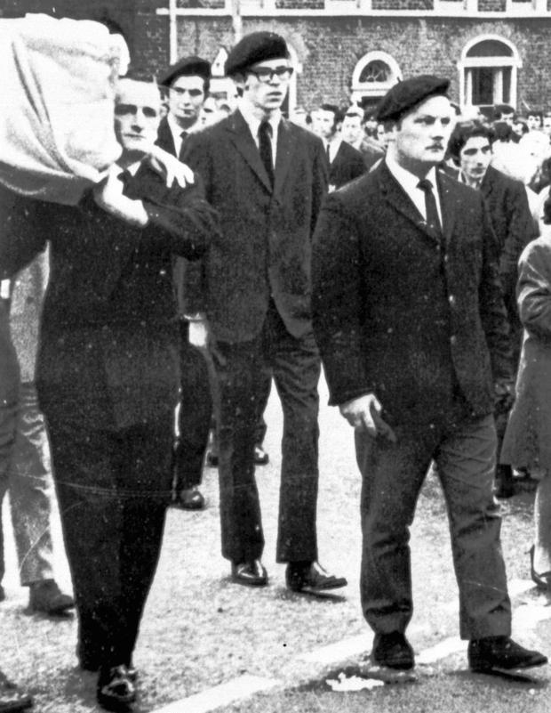 Gerry Adams at an IRA funeral in 1973