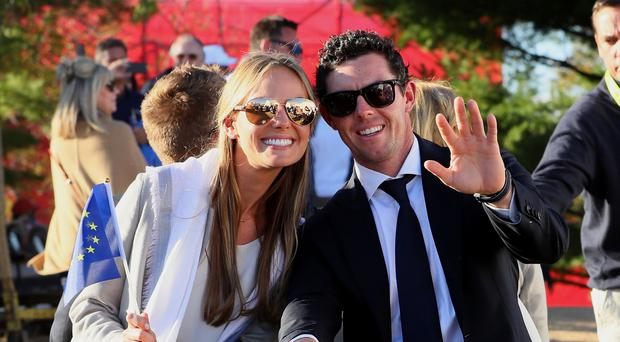 Rory McIlroy with Erica Stoll, now his wife, in 2016