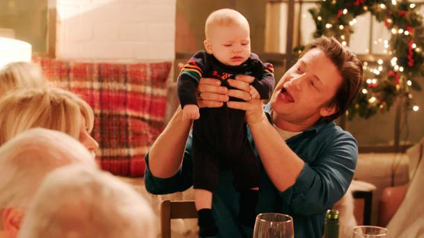 Food for thought: Chef Jamie Oliver shows off four-month old River Rocket