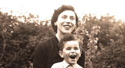 Alan Shatter and his mother Elaine